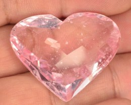 ~CERTIFIED~ Lovely Heart 62.51 Cts Natural Pink Morganite Brazil Gem