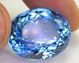 53 Ct Beautiful Color Natural Blue Topaz ~ Swiss