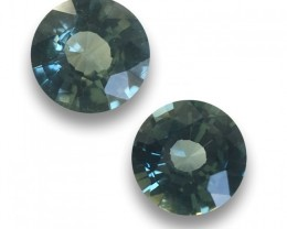 Natural Unheated Green Sapphire pair |Loose Gemstone| Sri Lanka