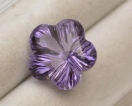 4.57 Carat Fine Fancy Amethyst Flower