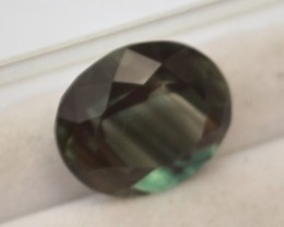 4.95 Carat Oval Cut Green Andesine