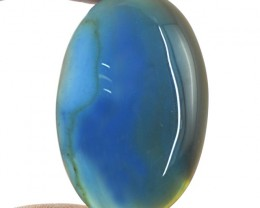 Genuine 83.50 Cts Oval Shape Blue Onyx Cab