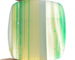 Genuine 56.00 Cts Green Striped Onyx Cab