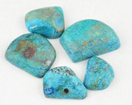 Genuine 69.00 Cts Turquoise Untreated Cab Lot
