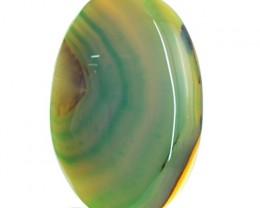 Genuine 54.50 Cts Green Onyx Oval Shape Cab