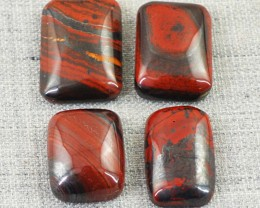 Genuine 52.00 Cts Red Power Tiger Eye Untreated Cab Lot