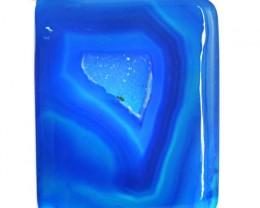 Genuine 99.50 Cts Blue Druzy Cab