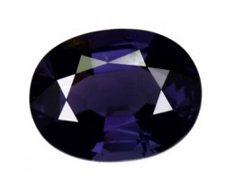 1.61 Cts Natural Spinel Deep Blue Oval Tanzania