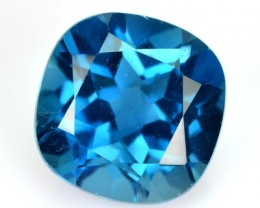 5.34 Cts Natural London Blue Topaz Cushion Brazil