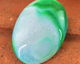 Genuine 61.50 Cts Green Onyx Oval Shape Cab