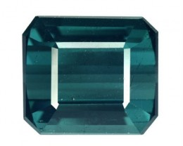 5.16 Cts Natural Indicolite Blue Tourmaline Octagon Mozambique