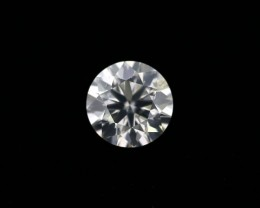 Natural G Color 1.01 Ct. Round brilliant cut diamond.