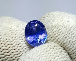 NO HEAT 1.70 CTS NATURAL BEAUTIFUL CERTIFIED VIOLET BLUE SAPPHIRE CEYLON