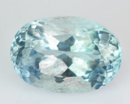 2.30 Cts Natural Blue Aquamarine Oval Cut Brazil Gem