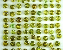 12.20 Cts Natural Demantoid Garnet (2.5-3.0 mm) Round 82 Pcs Parcel