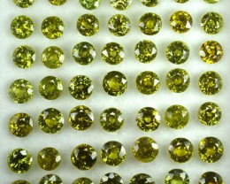 12.74 Cts Natural Demantoid Garnet (4.0-4.5 mm) Round 49 Pcs Parcel
