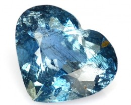 ~Cute Heart~ 1.57 Cts Natural Blue Aquamarine Brazil Gem