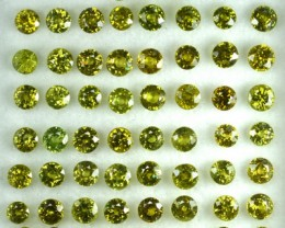 16.20 Cts Natural Demantoid Garnet (3.2-3.7 mm) Round 59 Pcs Parcel