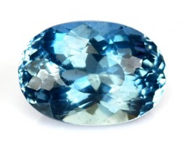 1.69 Cts Natural Blue Aquamarine Oval Cut Brazil Gem