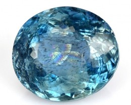 1.77 Cts Natural Blue Aquamarine Oval Cut Brazil Gem
