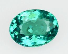 1.45 Cts Natural Blue Green Apatite Oval Cut Brazil Gem