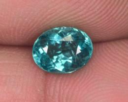 1.36 Cts Natural Blue Green Apatite Oval Cut Brazil Gem