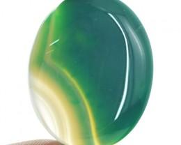 Genuine 59.00 Cts Oval Shape Green Onyx Cab