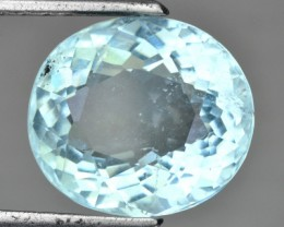 4.57 Cts Natural Blue Aquamarine Oval Cut Brazil Gem