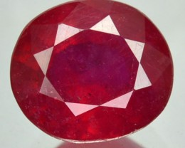2.99 Cts Natural Blood Red Ruby Oval Cut Thailand Gem