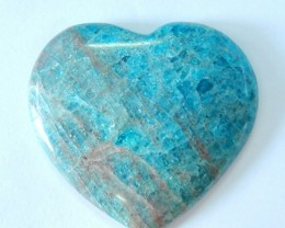 Heart Cabochon!!175.5ct Natural Blue Apatite Heart Cabochon,High Quality Ap