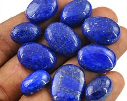 Genuine 105.50 Cts Oval Shape Blue Lapis Lazuli Cab Lot