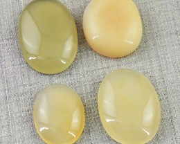 Genuine 99.55 Cts Oval Shape Yellow Onyx Cab Lot