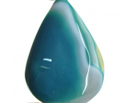 Genuine 109.50 Cts Blue Onyx Pear Shape Cab