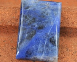 Genuine 25.00 Cts Blue Sodalite Rectangular Shape Cab