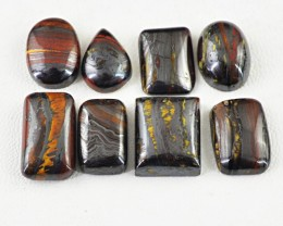Genuine 105.50 Cts Iron Tiger Eye Untreated Cab Lot