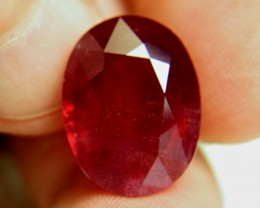 CERTIFIED - 19.91 Carat Fiery Red Ruby - Impressive