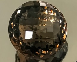 96.50ct Large SMOKY QUARTZ - Checker cut stone