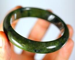 Green  Jadeite Jade Bangle Bracelet 293.0ct,57.0mm