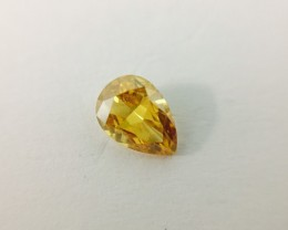 Fancy Deep Yellow Orange 0.40 ct. Diamond Pear shape