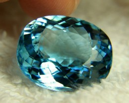 32.76 Carat Baby Blue Brazilian IF/VVS1 Topaz - Superb