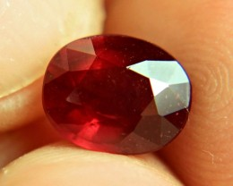 3.38 Carat Fiery Red Ruby - Superb