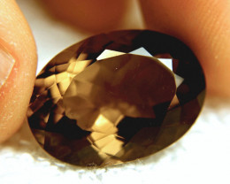 25.76 Carat, 100% Natural VVS1 Smokey Quartz