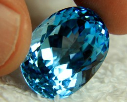 28.8 Carat Brazil Blue IF/VVS1 Topaz - Superb