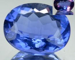 3.99 Cts Natural Color Change Fluorite Oval Cut Brazil Gem