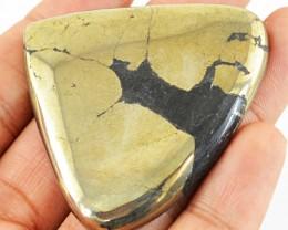 Genuine 186.50 Cts Pear Shape Golden Hematite Cab