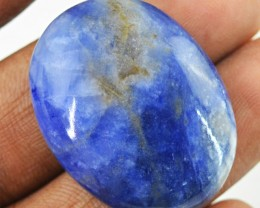 Genuine 45.50 Cts Untreated Blue Sodalite Cab