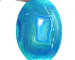 Genuine 55.50 Cts Blue Druzy Oval Shape Cab