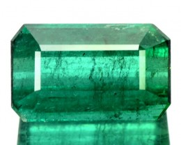 4.80 Cts Natural Green Tourmaline Octagon Cut Mozambique Gem