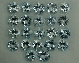 5.21 Cts Natural Aquamarine 4mm Nice Round 22 Pcs Parcel