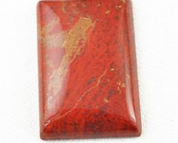 Genuine 33.00 Cts Red Jasper Rectangular Shape Cab